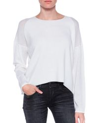 Helmut Lang Ribbed Pullover - Lyst
