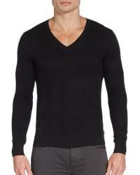 Burberry London Glaston Vneck Sweater - Lyst