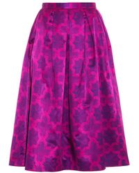 House Of Holland Parquet-print Cotton-blend Skirt - Lyst