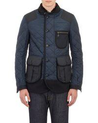 Junya Watanabe Quilted Mixedfabric Jacket - Lyst