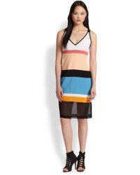 DKNY Colorblock Vneck Dress - Lyst