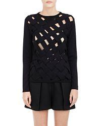 Ji Oh - Basket-weave Sweater - Lyst