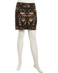 McQ by Alexander McQueen Floralprint Poplin Skirt - Lyst
