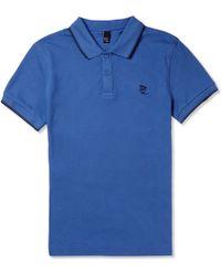 McQ by Alexander McQueen Cotton-pique Polo Shirt - Lyst