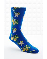 Obey Tourist Socks in Blue - Lyst