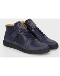 Paul Smith Navy Nubuck And Leather 'Dune' Trainers - Lyst
