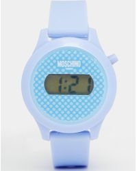 Moschino - Digital Teen Purple Watch - Lyst