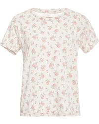 Current/Elliott The Sophomore Floralprint Top - Lyst