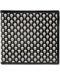 Alexander McQueen Skull Printed Canvas Coin Pocket Wallet - Lyst