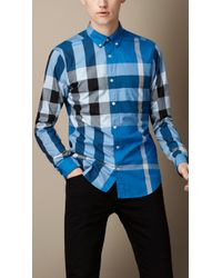 Burberry Giant Exploded Check Cotton Shirt - Lyst