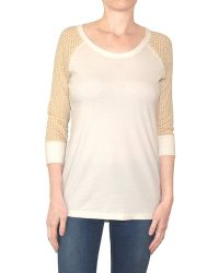 Pima Doll - Perforated Raglan Tee - Lyst