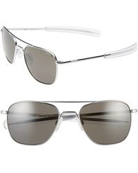 Randolph Engineering - 55mm Polarized Aviator Sunglasses - Lyst