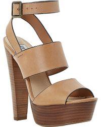 Steve Madden Dezzzy Platform Heeled Sandals - For Women - Lyst