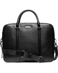 Michael Kors Warren Leather Large Double-Gusset Briefcase - Lyst