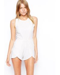 Love Playsuit With Overlay Shorts - Lyst