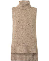 Adam Lippes Sleeveless Cashmere Blend Sweater - Lyst