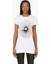 Silent - Damir Doma - Ivory White Burst Print Talis Tshirt - Lyst