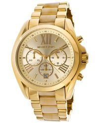 Michael Kors Womens Chronograph Champagne Dial Gold Tone Ip Ss Mkors Watch - Lyst