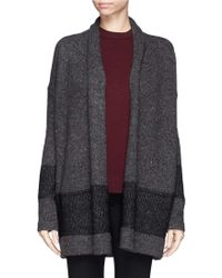 Vince Stripe Panel Open Front Cardigan - Lyst