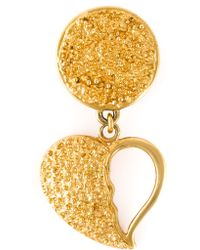 Yves Saint Laurent Vintage Broken Heart Earrings - Lyst