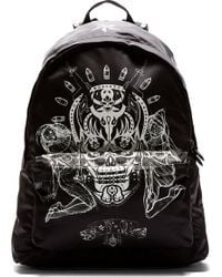 Givenchy Black Skull and Cards Print Backpack - Lyst