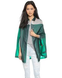 Hunter Original Mustache Cape - Dark Malachite - Lyst