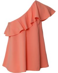 Rachel Zoe One-Shoulder Top pink - Lyst