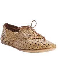 giraffe WALK - Brass Basket Weave Perforated Leather Bow Detail 'jaipur' Loafers - Lyst