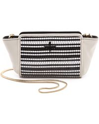 Pour La Victoire - Elie Mini Cross Body Bag Blackwhite Weave - Lyst