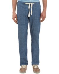 Rag & Bone Loosefit Chambray Drawstring Pants - Lyst