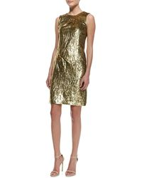 Michael Kors Panne Velvet Draped Sheath - Lyst
