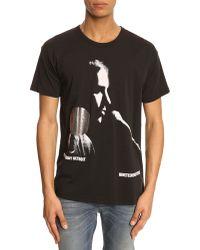 Closed Black Rock Print T-Shirt - Lyst