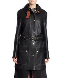 Acne Studios Lago Leather Trench Jacket - Lyst