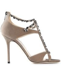 Jimmy Choo Brown Faiza Sandals - Lyst