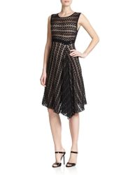ESCADA Crochet-Knit Draped Dress - Lyst