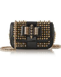 Christian Louboutin Sweety Charity Mini Spiked Leather Shoulder Bag - Lyst