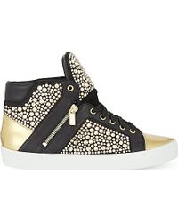 Gina - Alessia Crystal High-top Trainers - Lyst