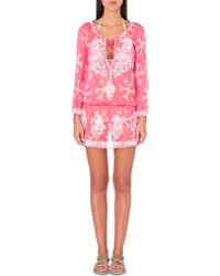 Marie France Van Damme - Printed Silk Kaftan - For Women - Lyst
