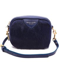 Deadly Ponies - Mr. Cub Fur Cross Body Bag - Cobalt - Lyst