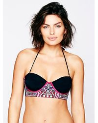 Free People Embroidered Bikini Top - Lyst