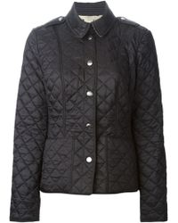 Burberry Brit Gray Quilted Jacket - Lyst