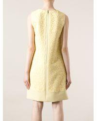 Dolce & Gabbana Sleeveless Floral Lace Dress - Lyst