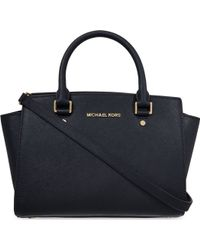 MICHAEL Michael Kors Selma Medium Saffiano Leather Satchel Bag - For Women - Lyst