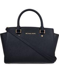 MICHAEL Michael Kors Selma Medium Saffiano Leather Satchel Bag - For Women - Lyst