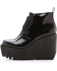 Opening Ceremony Grunge Wedge Elastic Boots - Black - Lyst