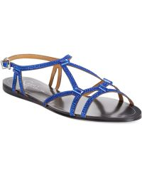Report Signature Sarasota Embellished Flat Sandals blue - Lyst