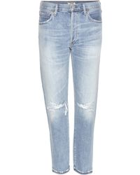 Citizens of Humanity | Liya Distressed High-rise Cropped Jeans | Lyst