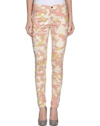 Edun Cotton Printed Denim Pants - Lyst