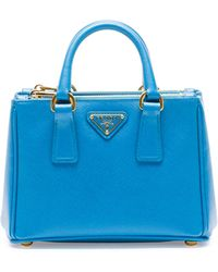 Prada Saffiano Mini Galleria Crossbody Bag - Lyst
