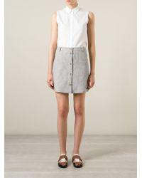 Sessun - Striped Button-Up Skirt - Lyst